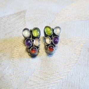 Vtg Nakai Navajo Sterling Silver Earrings